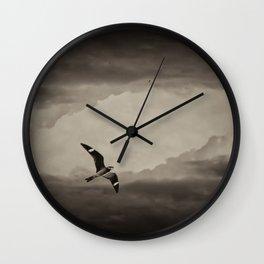 Nighthawk Flight Through Time Wall Clock