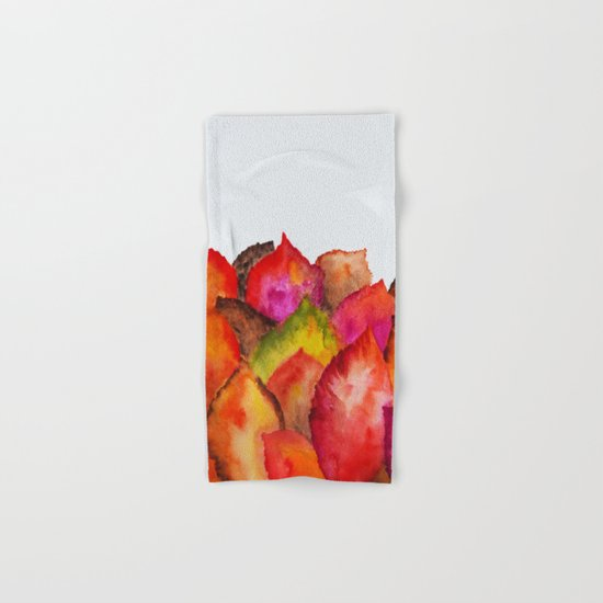 Autumn abstract watercolor 01 Hand & Bath Towel