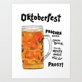 The Drink Collective: Oktoberfest Art Print