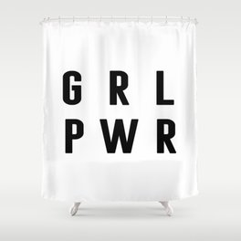 Girl Power Poster, Gift For Woman, Gift For her, Home Decor, Birthday Gift Shower Curtain