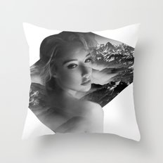 The Mountains You Carry Throw Pillow