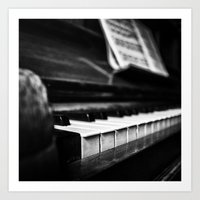 piano Art Prints featuring Piano by Monochrome by Juste Pixx