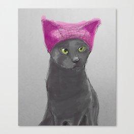 Pussy Hat Canvas Print
