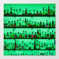 alcohol Canvas Prints featuring Alcohol Wall by Chee Sim