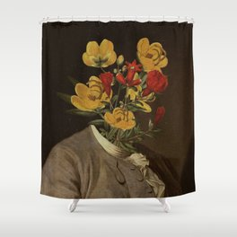 Flower head Shower Curtain