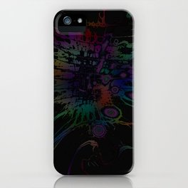 Coloring Spatter iPhone Case