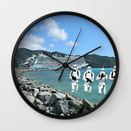Stormtroopers On Vacation Wall Clock
