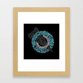Calligram 4 Framed Art Print