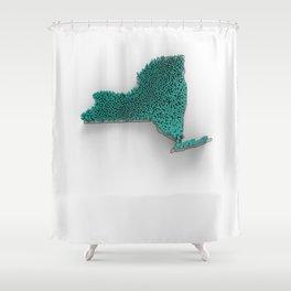 NY-PD-3D Shower Curtain