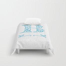 B Scallop: Blue Comforters