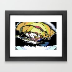 The most epic explosion on the city Framed Art Print