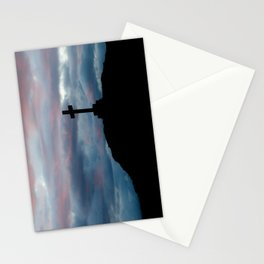 The cross on the hill Stationery Cards