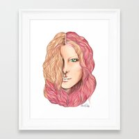 lily Framed Art Prints featuring Lily by Alexandra Davidoff