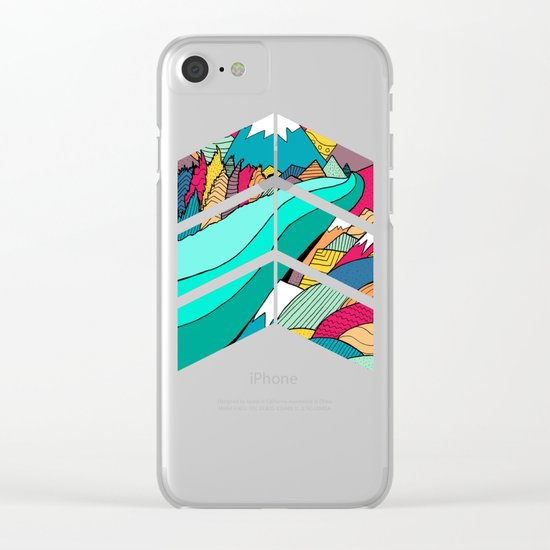 River in the mountains Clear iPhone Case