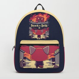 Attack on Boss // Funny Red Panda, Anime, Seinen Backpack