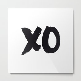 XOXO Hugs and Kisses black and white gift for her girlfriend bedroom art and home room wall decor Metal Print