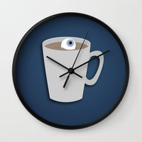 johnlock Wall Clocks featuring Sherlock - Surprisingly Okay v2 by Kallian