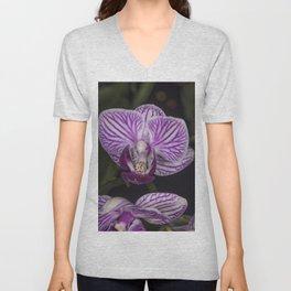 Purple orchid Unisex V-Neck