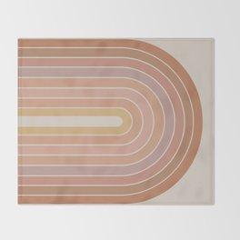 Gradient Arch - Natural Tones Throw Blanket