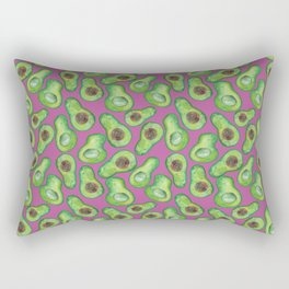 avocados in purple Rectangular Pillow