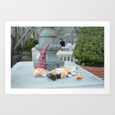 Shattered Travel Gnome Art Print
