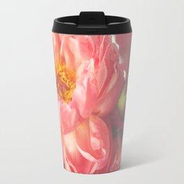 Pink Peony Travel Mug