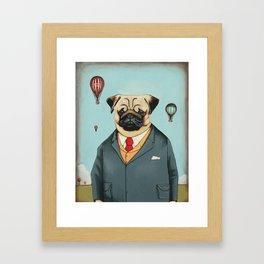 Mr Dog Steampunk Framed Art Print