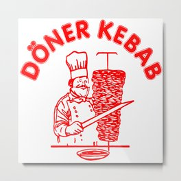 The Famous Döner Kebab Metal Print