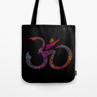 om Tote Bags featuring OM by Tali Rachelle