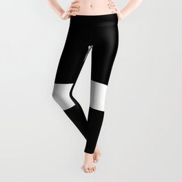 Plus Sign (White & Black) Leggings
