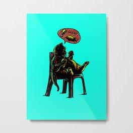 Obesity Cat Metal Print
