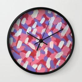 Pink and Purple Brushstrokes Art Wall Clock