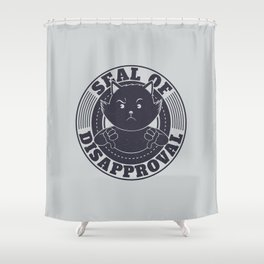 Seal of Disapproval Shower Curtain