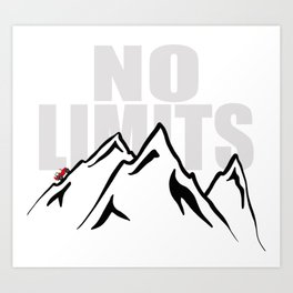 Jeep climb - No limits (Red) Art Print