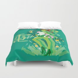 Soldier of Thunder and Courage Duvet Cover