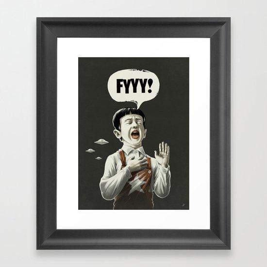 TESTI.FYYY! Framed Art Print