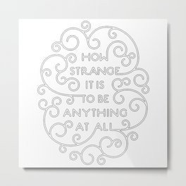 Neutral Milk Hotel - How Strange It Is To Be Anything At All - White Metal Print