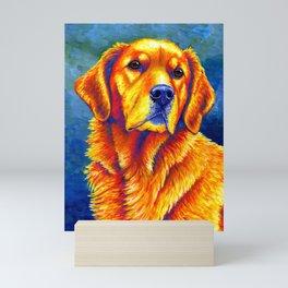 Faithful Friend - Colorful Golden Retriever Mini Art Print