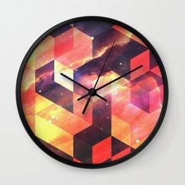 Geometric Fire Wall Clock