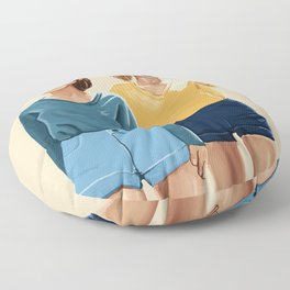 Blue and Yellow Floor Pillow