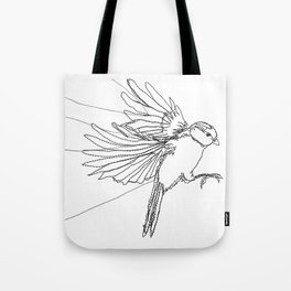 Embroidered Bird Tote Bag