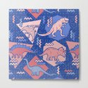 Nineties Dinosaurs Pattern  - Rose Quartz and Serenity version by chobopop