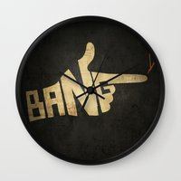 cowboy bebop Wall Clocks featuring See You Space Cowboy... by 5eth