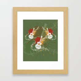 Music Poster with Guitar Framed Art Print