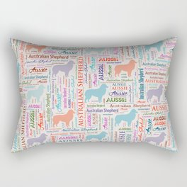 Australian Shepherd Aussie Word Art Rectangular Pillow