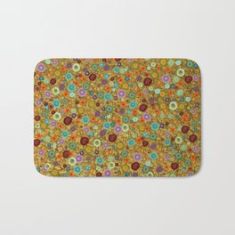 Playful Watercolor dots pattern - Gold Bath Mat