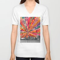 toronto V-neck T-shirts featuring Blooming Toronto by Bianca Green