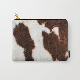 Cowhide Brown Spots Carry-All Pouch