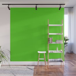Simple Solid Color Yellow Green All Over Print Wall Mural