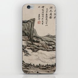 Fishing in River Country at Blossom Time iPhone Skin